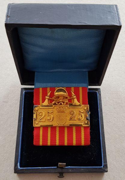 Baden, Ehrenzeichen für 25 Dienstjahre in Freiwilligen Feuerwehren mit Etui