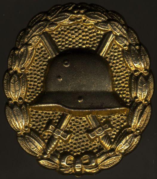 Verwundetenabzeichen 1918 in Mattgelb