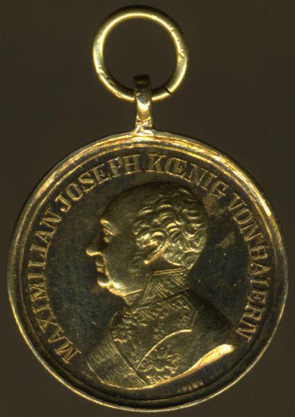 """Miniatur - Bayern, Goldene Tapferkeitsmedaille / Militär-Verdienstmedaille - """"J.RIES"""""""