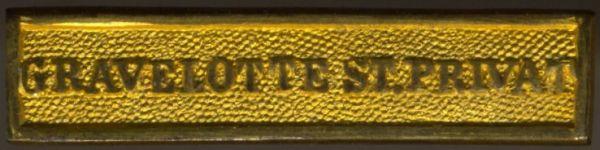 """Preußen, Gefechtsspange """"GRAVELOTTE ST. PRIVAT"""" zur Kriegsdenkmünze 1870/7"""