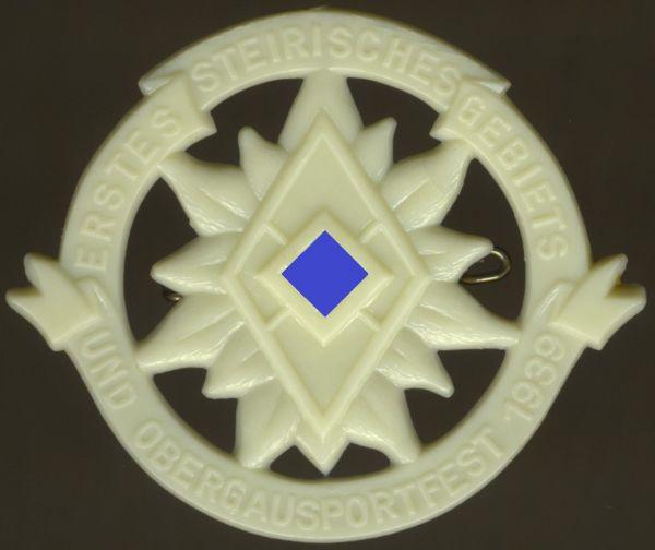 """Abzeichen """"1. Steirisches HJ-Gebiets- & Obergausportfest 1939"""""""