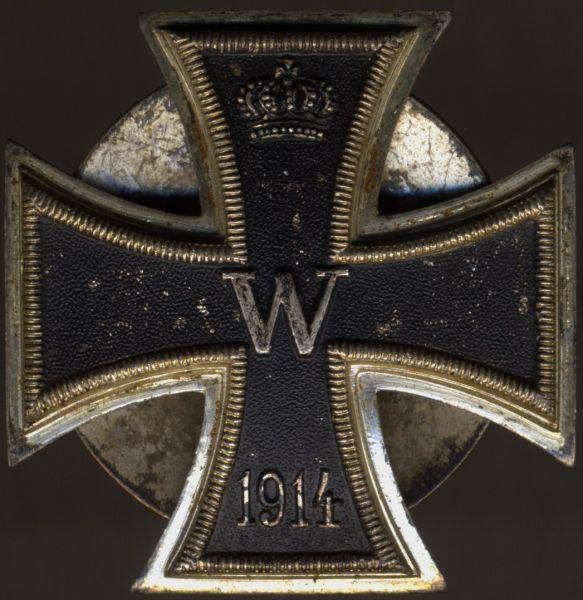 Eisernes Kreuz 1. Klasse 1914 - Schraubscheibe - einteilig (!) - Petz & Lorenz / Unterreichenbach