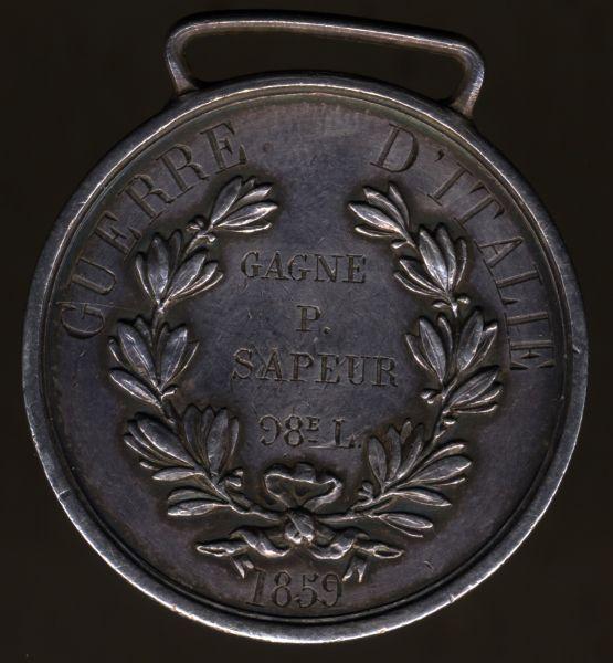 "Königreich Sardinien (Italien), Medaglia ""Al Valore Militare"" - 1859"