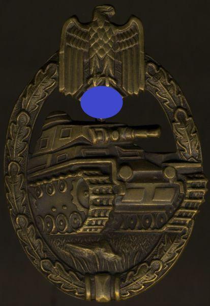 Panzerkampfabzeichen in Bronze - Karl Wurster / Markneukirchen