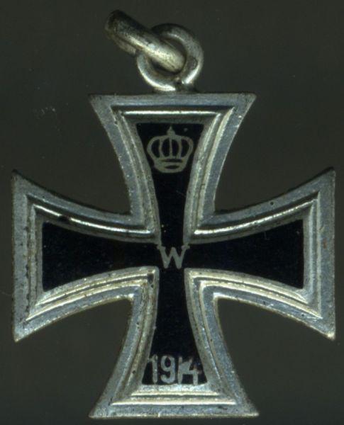 Miniatur - Eisernes Kreuz 1. Klasse 1914 - Emaille