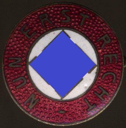 """NSDAP-Sympathieabzeichen """"NUN ERST RECHT"""""""