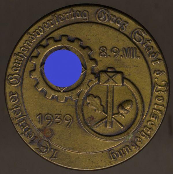 """Abzeichen """"1. Steirischer Gauhandwerkertag 1939 Graz"""""""