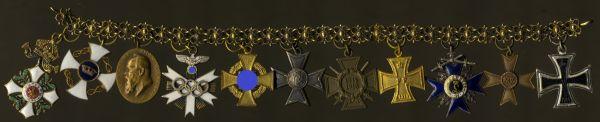 11er Miniaturenkettchen des Präsidenten der Reichsbahndirektion München Albert Gollwitzer