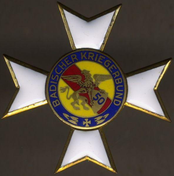 (Republik) Baden, Kriegerbund-Ehrenkreuz 1. Klasse mit der Jahreszahl 50