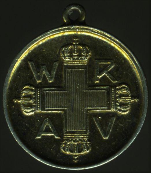 Miniatur - Preußen, Rote-Kreuzmedaille 3. Klasse - 900/1000 Silber (!)
