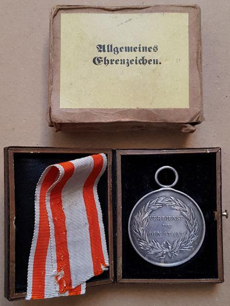 Preußen, Allgemeines Ehrenzeichen mit Etui & Umkarton