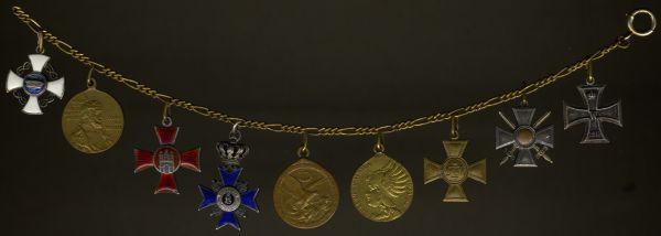 9er Miniaturenkettchen des Generalleutnants Maximilian Frhr. von Reitzenstein