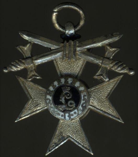 Miniatur - Bayern, Militär-Verdienstkreuz 2. Klasse mit Schwertern