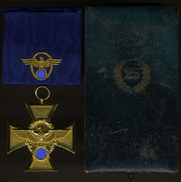 Polizei-Dienstauszeichnung 25 Jahre mit Etui (breit)