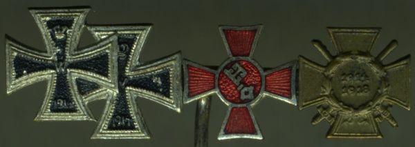 4er Miniaturenspange mit Hanseatenkreuz Bremen