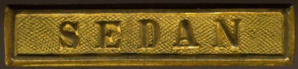 """Preußen, Gefechtsspange """"SEDAN"""" zur Kriegsdenkmünze 1870/71"""