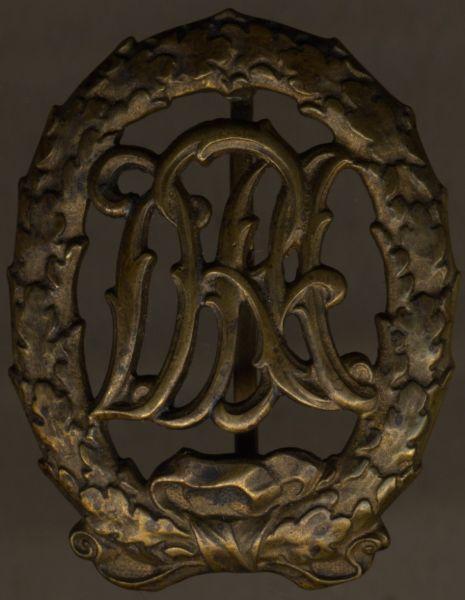 Reichssportabzeichen in Bronze - Hermann Wernstein / Jena
