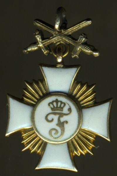 Miniatur - Württemberg, Friedrichsorden Ritterkreuz 1. Klasse mit Schwertern