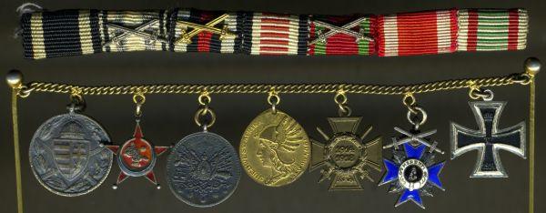 7er Miniaturenkettchen + Feldschnalle mit Osmanisches Reich