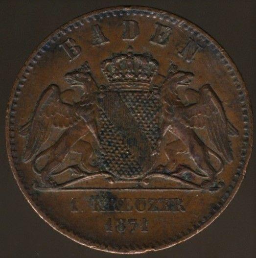 Baden, 1 Kreuzer 1871