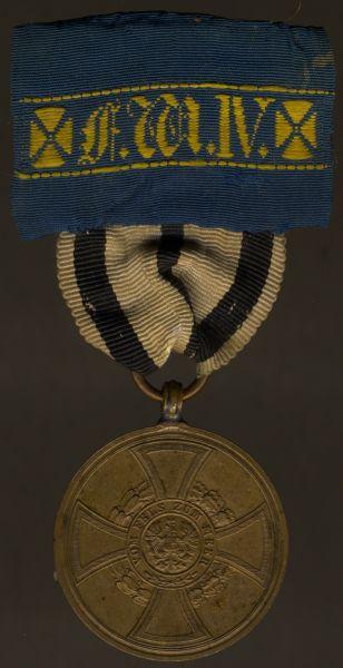 Preußen, Hohenzollernsche Kriegsdenkmünze 1948/49 für Kämpfer + Landwehr-DA 2. Klasse