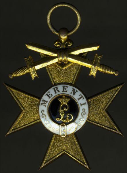 Bayern, Militär-Verdienstkreuz 1. Klasse - Weiss & Co. / München - Deschler-Schwerter (!)