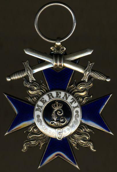 Bayern, Militär-Verdienstorden 3. Klasse mit Schwertern - Leser / Straubing - Silber vergoldet (!)
