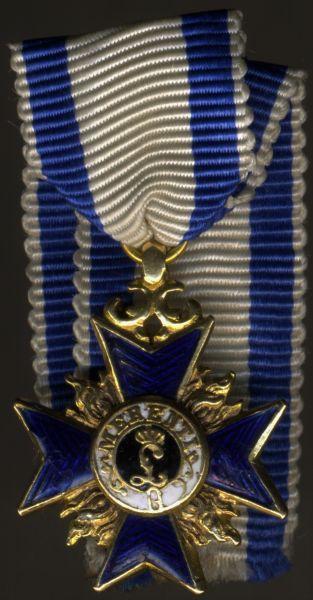 Miniatur - Bayern, Militär-Verdienstorden 3. Klasse (Ritterkreuz 1. Klasse)