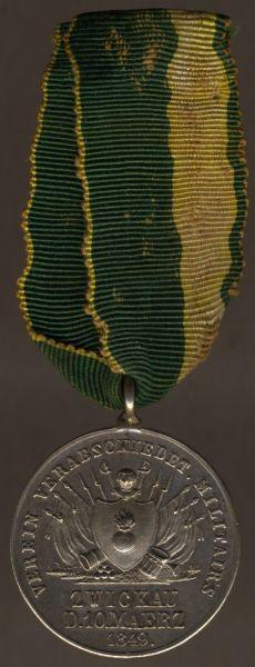 """Medaille des """"Verein verabschiedeter Militair's Zwickau"""""""