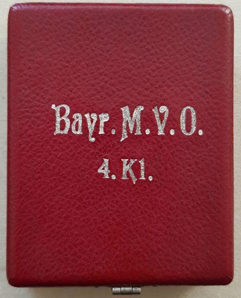 Etui zum Bayern, Militär-Verdienstorden 4. Klasse mit Schwertern