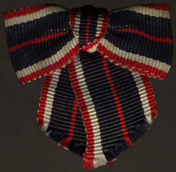 Miniaturdekoration - Kriegsverdienstmedaille 1939 - Damenschleife (!)