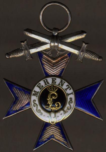 Bayern, Militär-Verdienstkreuz mit Schwertern des Friedrich Heinkelein - China-Verleihung (!)