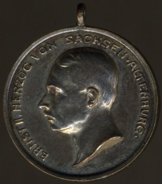 Miniatur - Sachsen-Altenburg, Silberne Verdienstmedaille des SEHO (Ernst II.)