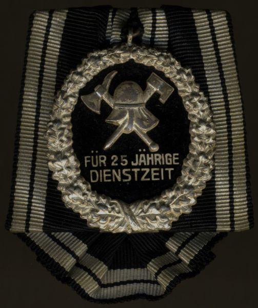 Einzelordensschnalle - (Freistaat) Preußen, Feuerwehr-Ehrenzeichen 25 Jahre
