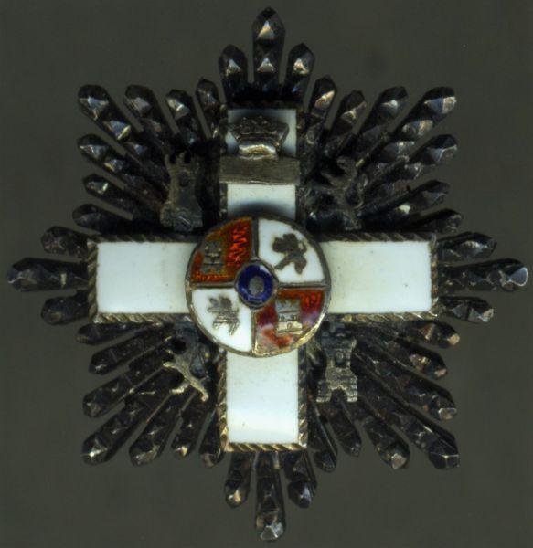 Miniatur - Spanien, Militär-Verdienstorden 2. Klasse-Stern (6. Modell)