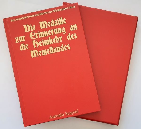 """Fachbuch """"Die Medaille zur Erinnerung an die Heimkehr des Memellandes"""" - LIMITED EDITION"""