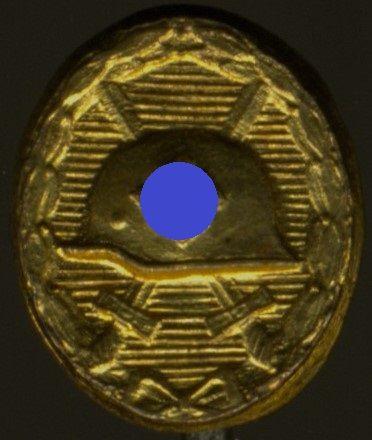 Miniatur - Verwundetenabzeichen 1939 in Gold - Hymmen & Co. / Lüdenscheid