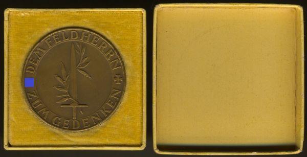 Medaille auf Erich Ludendorff mit Schachtel - Hauptmünzamt Wien