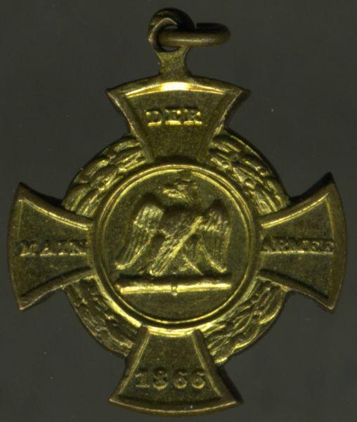 """Miniatur - Preußen, Erinnerungskreuz 1866 """"Main-Armee"""""""