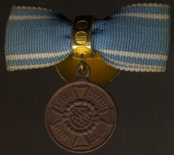 Miniaturdekoration - Bayern, Landwehr-Dienstauszeichnung 2. Klasse