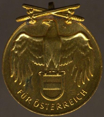 Miniatur - Österreich, Weltkriegs-Erinnerungsmedaille mit Schwertern