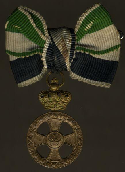Miniatur - Sachsen-Meiningen, Kreuz für Verdienste von Frauen und Jungfrauen in der Kriegsfürsorge