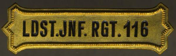 Regimentskreuz-Spange des Landsturm-Infanterie-Regiments Nr. 116