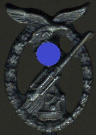 Miniatur - Flakkampfabzeichen der Luftwaffe