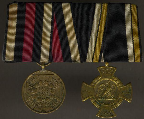 2er Ordensschnalle 1866 & 1870/71