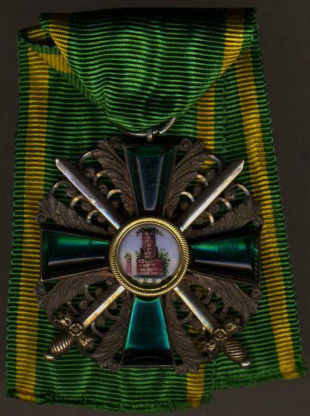 Baden, Orden vom Zähringer Löwen Ritterkreuz 2. Klasse mit Schwertern - Prachtexemplar (!)