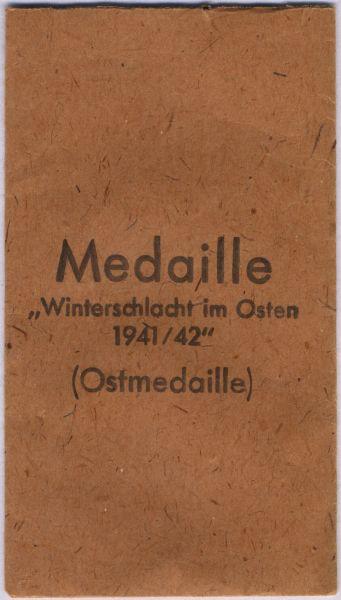 Tüte zur Ostmedaille - Carl Poellath / Schrobenhausen