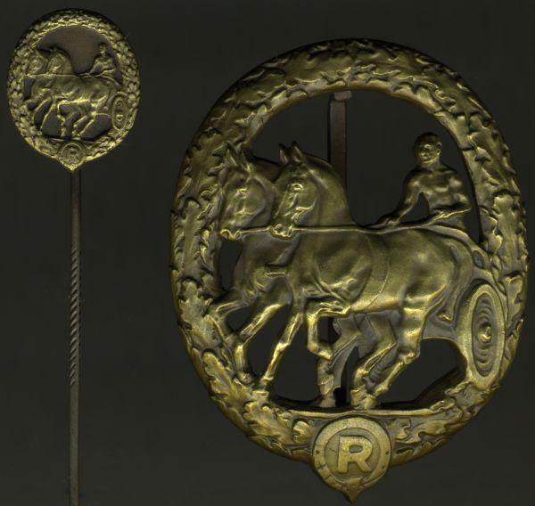 Deutsches Fahrerabzeichen in Bronze + Miniatur - C. Lauer / Nürnberg