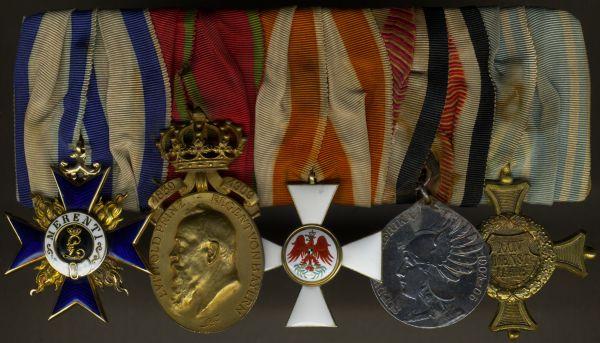 5er Ordensschnalle des Oberst Maximilian Ebermayer