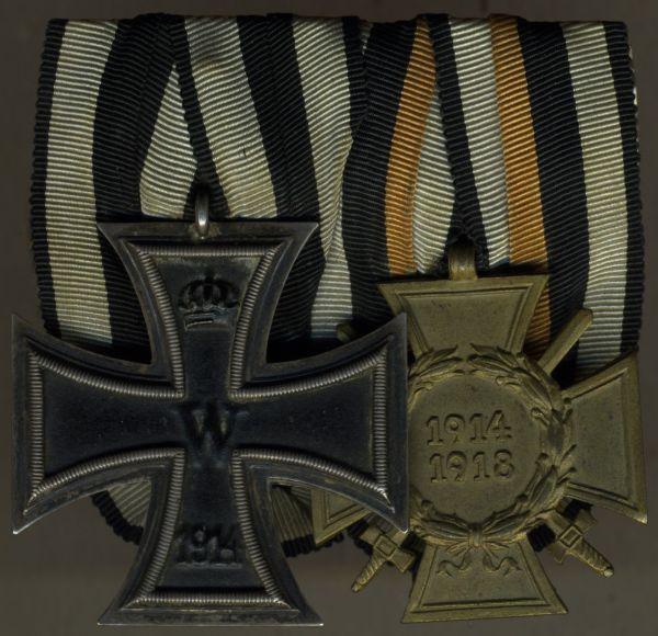 2er Ordensschnalle eines Weltkriegsveteranen